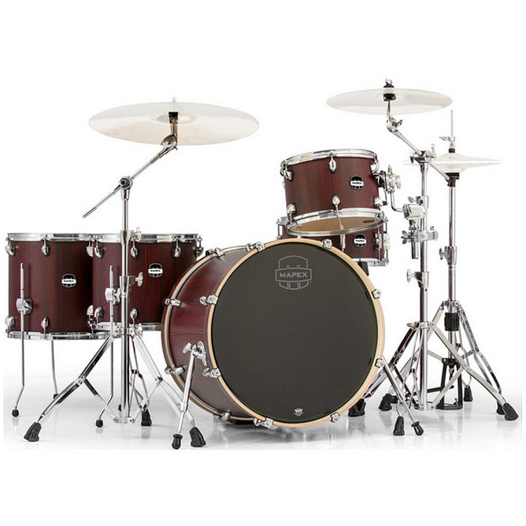 Mapex Mars MA528S CRW 528 Crossover, 5 teiliges Schlagzeugset, Bloodwood
