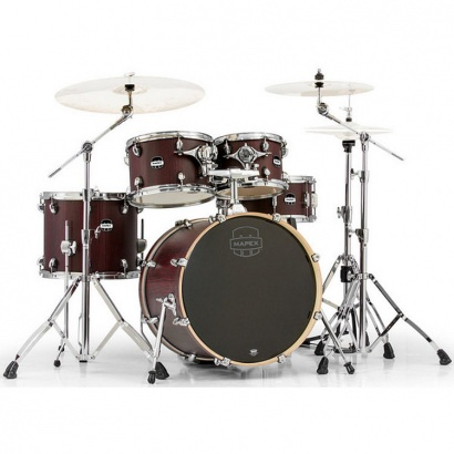 Mapex Mars MA504S-CRW 504 Fusion 5-teiliges Schlagzeugset, Bloodwood