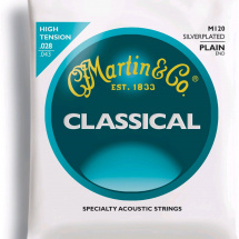 Martin Strings M120 Plain End, silverplated. Saitensatz f. Konzergitarre