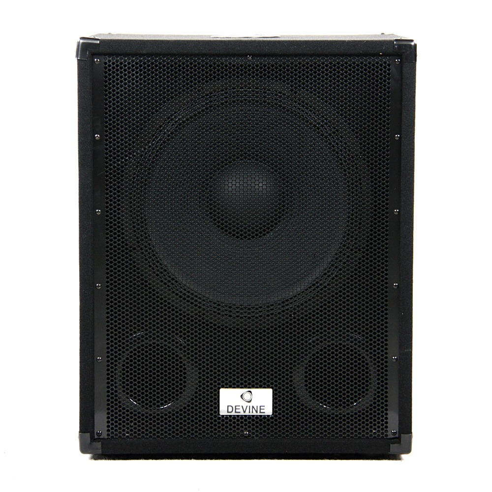 devine b115a mkii aktiver subwoofer mit 3 kanal verst rker. Black Bedroom Furniture Sets. Home Design Ideas