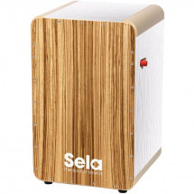Sela SE 026 Wave Pro White Zebrano Cajon mit Switch