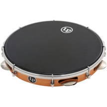 Latin Percussion LP3012 12 Zoll Pandeiro Rahmentrommel, synthetisch