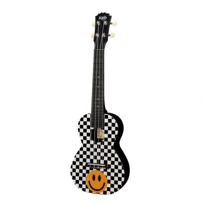 Korala PUC-30-014 Konzertukulele Yellow Smiley Checkers, Polycarbonat