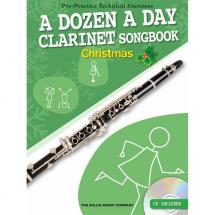 Willis Music - A Dozen A Day Songbook für Klarinette: Christmas (englisch)