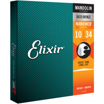 Elixir 11500 Mandolin 80/20 Bronze Nanoweb Light 10-34 Saitensatz für Mandoline (Light)