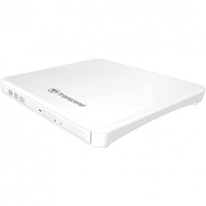 Transcend TS8XDVDS-W Extra Slim Portable DVD Writer, weiß