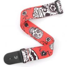 Planet Waves P20W1414 Sugar Skulls Red Gitarrengurt