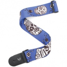 Planet Waves P20W1415 Sugar Skulls Blue Gitarrengurt