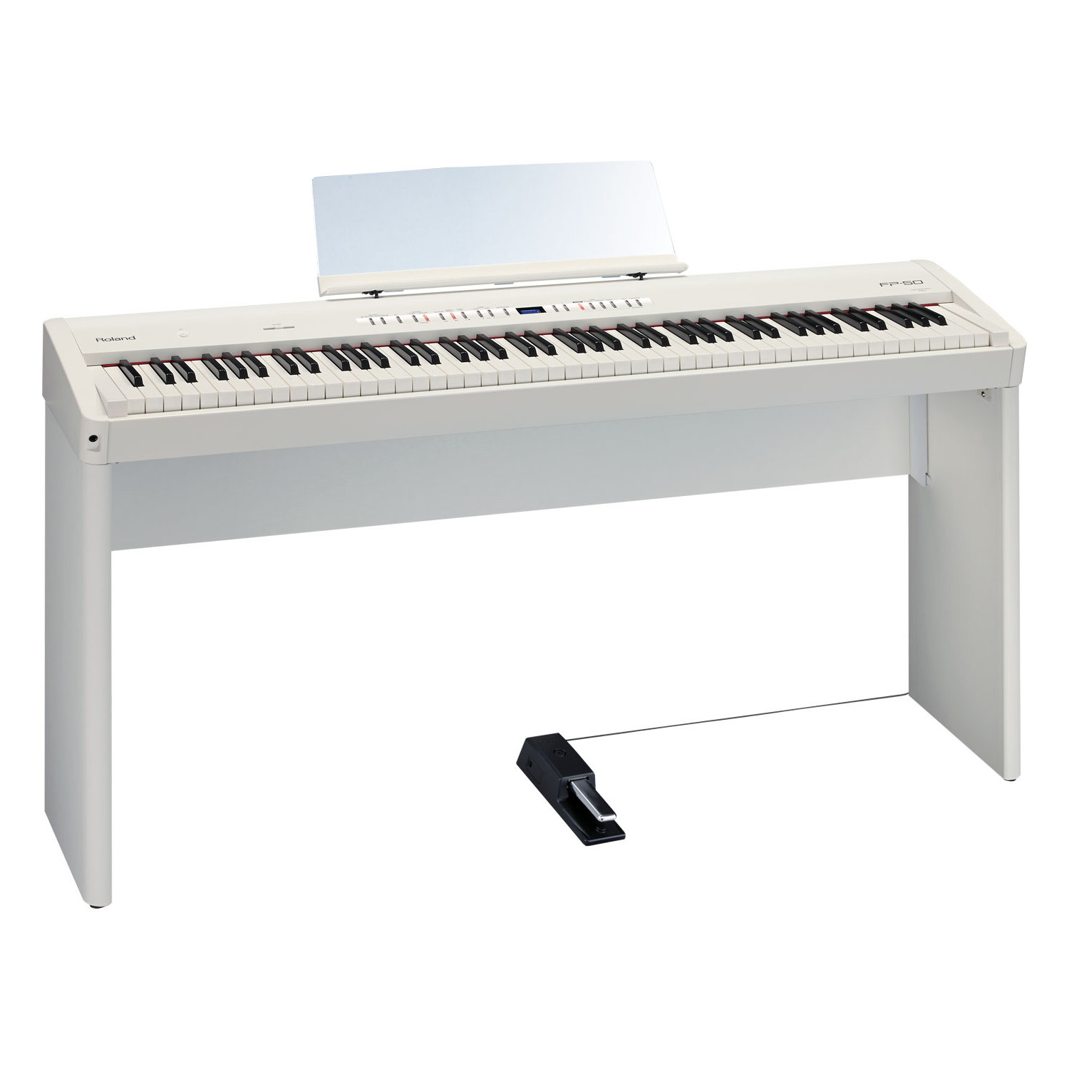 roland fp 50 wh wei e piano st nder kaufen bax shop. Black Bedroom Furniture Sets. Home Design Ideas