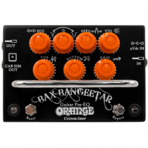 Orange Bax Bangeetar Guitar Pre-EQ Custom Shop Pedal, schwarz