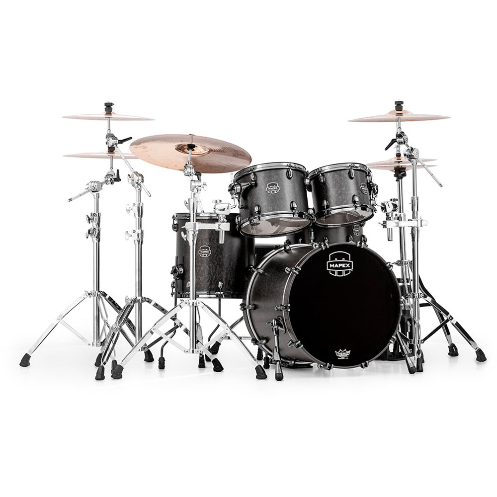 Mapex MXSV504B MFB Saturn V MH Exotic Flat Black Maple Burl
