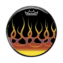 "Remo PA-1022-F2 Graphic Spreading Flames 22"" Bassdrum-Fell"