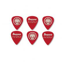 Ibanez OS-RD The Offspring Signature Plektren 6er Set Rot