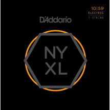 D'Addario NYXL1059 Nickel Wound Regular Light .010-.059 Saitensatz f. 7-Saiter