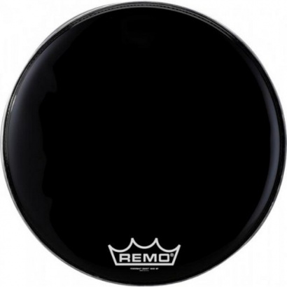 "Remo PM-1814-MP 14"" Powermax Black Suede Marching Drumfell"