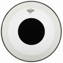 Remo P3-1324-10 Powerstroke 3 Black Dot Bassdrum-Fell, 24""