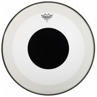 Remo P3-1326-10 Powerstroke 3 Black Dot Bassdrum-Fell, 26""