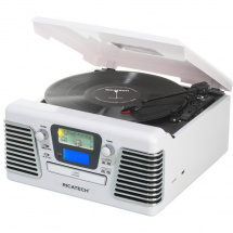Ricatech RMC100 5 in 1 Music Center, White
