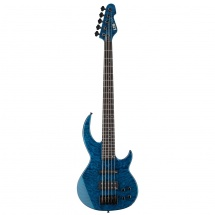 ESP LTD BB-1005 QM Bunny Brunel Signature Black Aqua E-Bass, 5-saitig