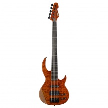 ESP LTD BB-1005 QM Bunny Brunel Signature Burnt Orange E-Bass, 5-saitig