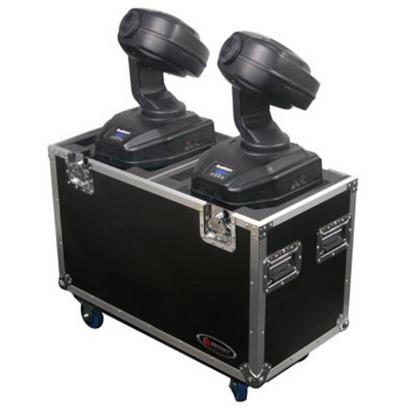 Odyssey FZMH250SX2W Flightzone Dual Light Case f. Moving Heads