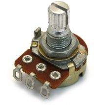 AllParts Mini-Potentiometer, 25 kOhm Potentiometer für aktive Pickups