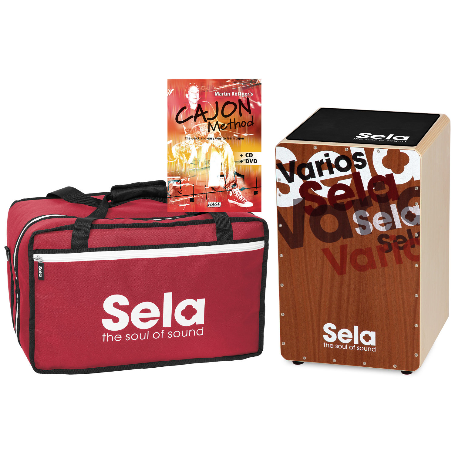 Sela Varios Cajon Bundle Cajon Tasche Pad Lernmethode