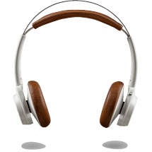 Plantronics Backbeat SENSE On-Ear Kopfhörer, weiß/tan