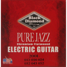 Black Diamond Strings N200L Chromium Flatwound Saitensatz f. E-Gitarre