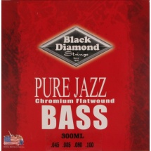 Black Diamond Strings N300ML Chromium Flatwound Saitensatz f. E-Bass