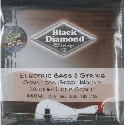 Black Diamond Strings N450L Stainless Steel Saitensatz f. E-Bass
