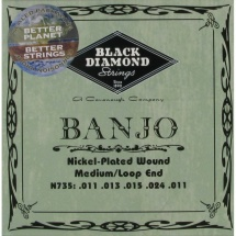 Black Diamond Strings N735 Nickel Saitensatz f. Banjo