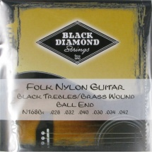Black Diamond Strings N168B Folk Nylon Saitensatz f. Konzertgitarre