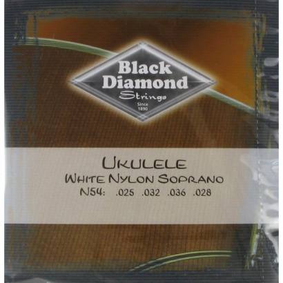 Black Diamond Strings N54 Ukulele White Nylon Saitensatz f. Sopran-Ukulele