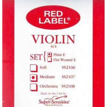 Super Sensitive Strings 2107 Red Label Violin Saitensatz f. Geige