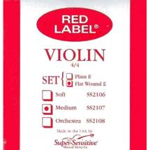 Super Sensitive Strings 2107F Red Label Violin Saitensatz f. Geige