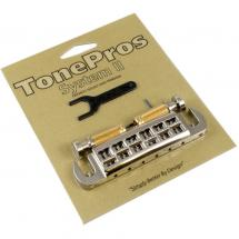 TonePros AVT2-G-N Wraparound Adjustable Bridge, vernickelt
