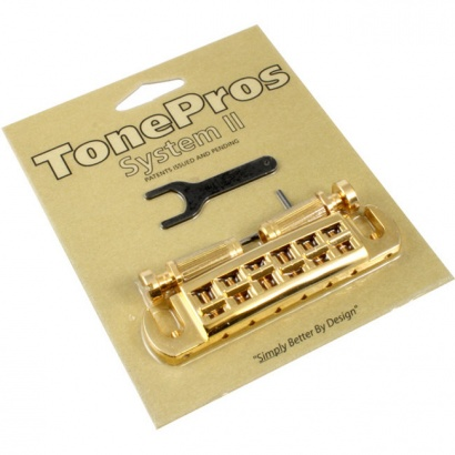 TonePros AVT2-G-G Wraparound Adjustable Bridge, vergoldet