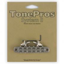 TonePros T3BP-N Locking Nashville Tune-o-Matic Brücke, vernickelt