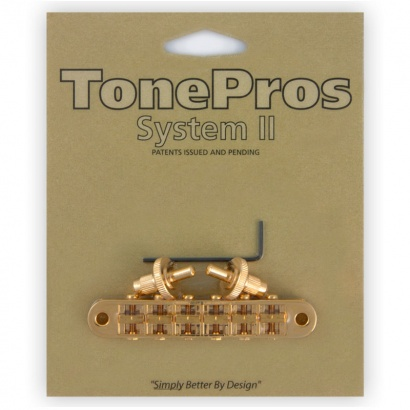TonePros T3BP-G Locking Nashville Tune-o-Matic Brücke, vergoldet