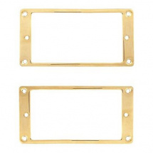 AllParts Flat Profile Humbucking Pickup Rahmen, vergoldet (2er Set)