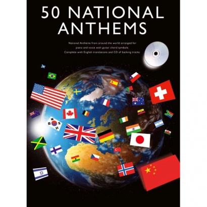 Wise Publications - 50 National Anthems für Piano, Gesang, Gitarre