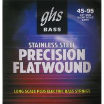 GHS 3020 Precision Flatwound Short Scale Saitensatz f. E-Bass