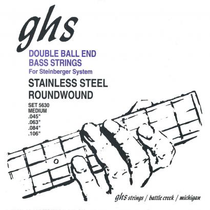 GHS 5630 Double Ball End Medium Saitensatz für E-Bass