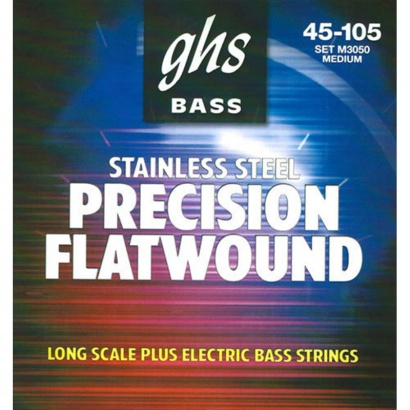 GHS M3050 Bass Precision Flats Medium Long Scale Plus Saitensatz für E-Bass
