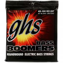 GHS ML3045 Bass Boomers Medium Light Long Scale Saitensatz für E-Bass