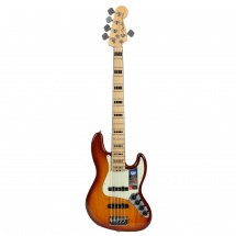 Fender American Elite Jazz Bass V Ash Tobacco Sunburst MN