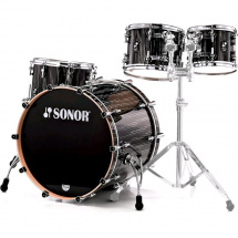 Sonor ProLite Studio 1 Shellset Ebony White Stripe