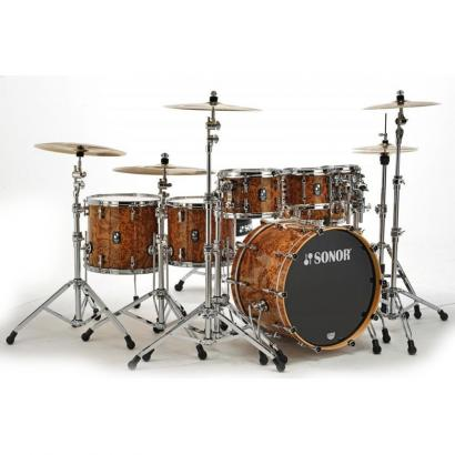 Sonor SQ2 Shellset Chocolate Burl Chrome Plated