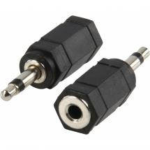 HQ Adapterstecker 3,5 mm Mono-Stecker - 3,5 mm Stereo-Buchse Contra